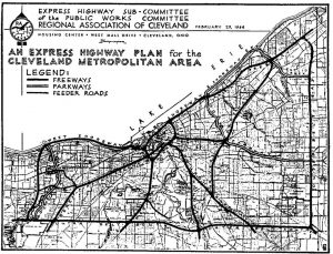 1944-cleveland-freeway-plan